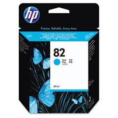 HP 82, (C4911A) Cyan Original Ink Cartridge