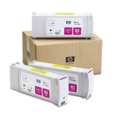 HP 83, (C5074A) 3-pack Magenta Original Ink Cartridges