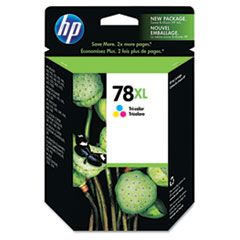 HP 78XL, (C6578AN) High Yield Tri-Color Original Ink Cartridge