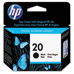 HP 20, (C6614D) Large Black Original Ink Cartridge