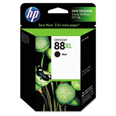 HP 88XL, (C9396AN) High Yield Black Original Ink Cartridge