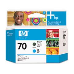 HP 70, (C9404A) Matte Black/Cyan Printhead