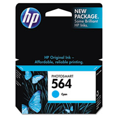 HP 564, (CB318WN) Cyan Original Ink Cartridge