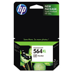HP 564XL, (CB322WN) High Yield Photo Black Original Ink Cartridge
