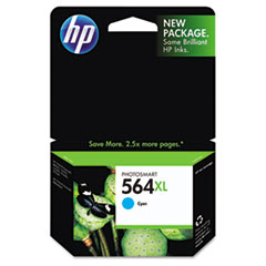 HP 564XL, (CB323WN) High Yield Cyan Original Ink Cartridge