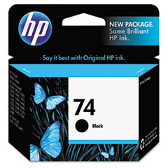 HP 74,(CB335WN) Black Original Ink Cartridge