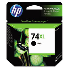 HP 74XL, (CB336WN) High Yield Black Original Ink Cartridge