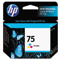 HP 75, (CB337WN) Tri-color Original Ink Cartridge