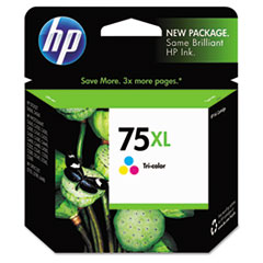 HP 75XL, (CB338WN) High Yield Tri-color Original Ink Cartridge