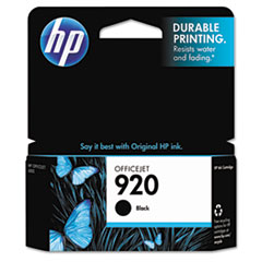 HP 920, (CD971AN) Black Original Ink Cartridge