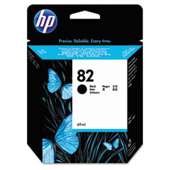 HP 82, (CH565A) Black Original Ink Cartridge