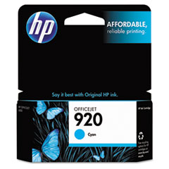 HP 920, (CH634AN) Cyan Original Ink Cartridge