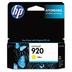 HP 920, (CH636AN) Yellow Original Ink Cartridge