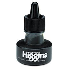 Waterproof Pigmented Drawing Ink, Black, 1oz Bottle