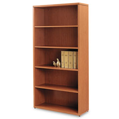 10500 Series Laminate Bookcase, Five-Shelf, 36w x 13-1/8d x 71h, Bourbon Cherry