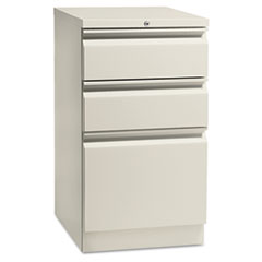Flagship Mobile Box/Box/File Pedestal, Full Radius Pull, 19-7/8d, Light Gray