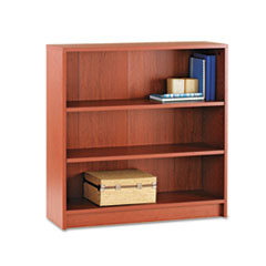 1870 Series Bookcase, Three Shelf, 36w x 11 1/2d x 36 1/8h, Henna Cherry HON1872J