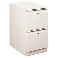 Flagship Mobile File/File Pedestal, Full Radius Pull, 22-7/8d, Light Gray