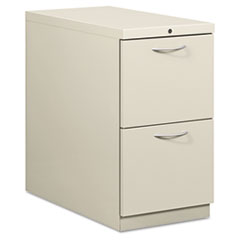 Flagship Mobile File/File Pedestal, Arch Pull, 28-7/8d, Light Gray