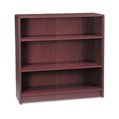 1890 Series Bookcase, Three Shelf, 36w x 11 1/2d x 36 1/8h, Mahogany HON1892N
