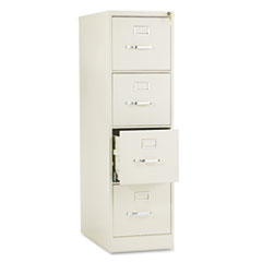 HON 510 Series Four-Drawer, Full-Suspension File, Letter, 52h x25d, Putty at Sears.com
