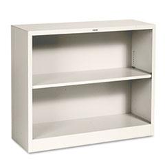 Metal Bookcase, Two-Shelf, 34-1/2w x 12-5/8d x 29h, Putty HONS30ABCL