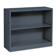 Metal Bookcase, Two-Shelf, 34-1/2w x 12-5/8d x 29h, Charcoal HONS30ABCS