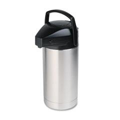 Commercial Grade Jumbo Airpot, 3.5L, Stainless Steel/Black