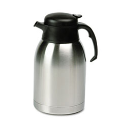 Stainless Steel Lined Vacuum Carafe, 1.9L, Satin Finish/Black Trim