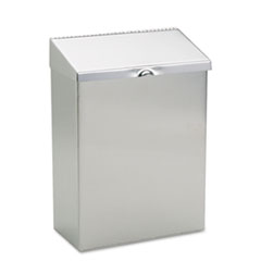 Wall Mount Sanitary Napkin Receptacle, 8 x 4 x 11, Stainless Steel