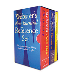 Websters New Essential Reference Three-Book Desk Set, Paperback