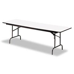 Premium Wood Laminate Folding Table, Rectangular, 60w x 30d x 29h, Gray/Charcoal ICE55217