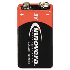 Alkaline Batteries, 9V, 4 Batteries/Pack