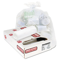Heavy Grade Liners, 55gal, 13mic, 36 x 60, Natural, 25 Bags/Roll, 8 Rolls/CT