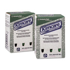 KIMCARE Super-Duty Hand Cleanser w/Grit, Herbal, 3500mL Bag In Box, 2/Carton