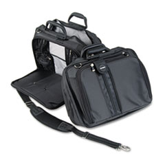"Contour 15.6"" Laptop Carrying Case, Nylon, 16-1/2 x 6-1/2 x 12-1/2, Black"