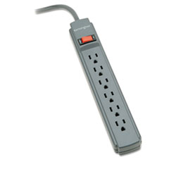 Guardian Surge Protector, 6 Outlets, 15 ft Cord, 540 Joules, Gray