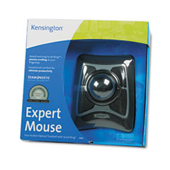 Expert Mouse Wired Trackball, Scroll Ring, Black/Silver