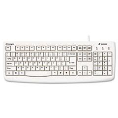 Pro Fit USB Washable Keyboard, 104 Keys, White