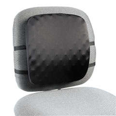 Halfback Back Support Chair Pad, 13w x 1-1/2d x 13-3/4h, Black KMW82021