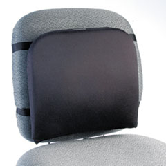 Memory Foam Backrest, 13-1/4w x 1-3/4d x 14-1/4h, Black