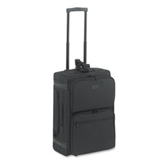 Rolling Dual-Side Laptop/Overnight Case, Nylon, 16 x 9 x 22, Black