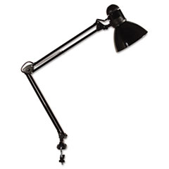 "Opti Series Swing Arm Incandescent Lamp, 30"" Reach, Black"