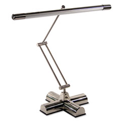 "Full Spectrum Adjustable Desk Lamp, 21"" High, Brushed Steel"
