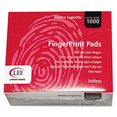Inkless Fingerprint Pad, 2 1/4 x 1 3/4, Black, Dozen