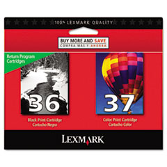 18C2229 (36; 37) Ink, 175 Page-Yield, 2/Pack, Black; Color