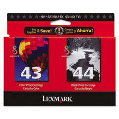 18Y0372 Ink, 500 Page-Yield, 2/Pack, Black; Tri-Color
