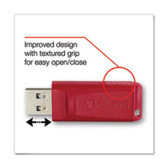 Verbatim 8GB Store 'n' Go USB Flash Drive Red