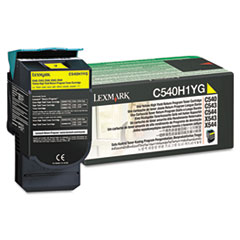 C540H1YG High-Yield Toner, 2000 Page-Yield, Yellow