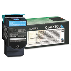 C544X1CG Extra High-Yield Toner, 4000 Page-Yield, Cyan